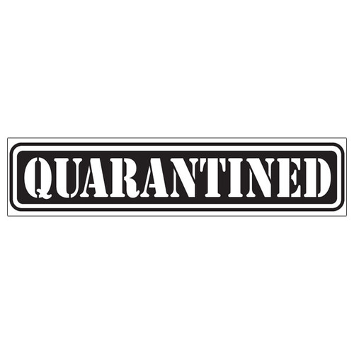 Scrapbook Customs Laser Cut Title: Quarantined