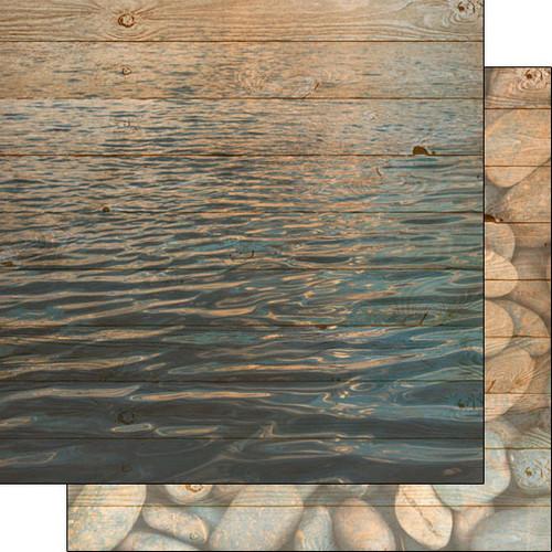 Scrapbook Customs 12x12 Outdoor Themed Paper: Life is Better - Lake/Rock