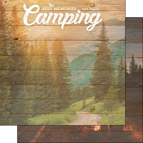 Scrapbook Customs Life is Better 12x12 Paper: Camping