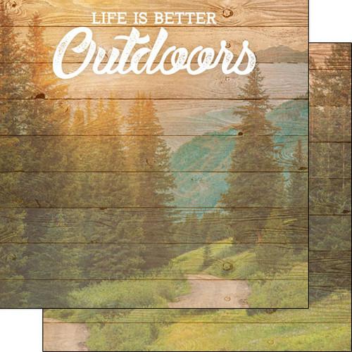 Scrapbook Customs 12x12 Outdoor Themed Paper: Life is Better - Outdoors