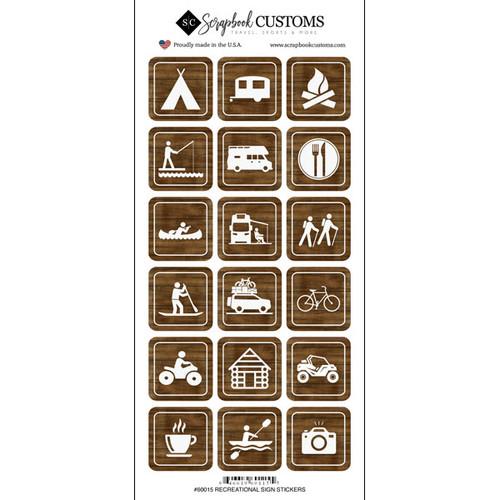Scrapbook Customs Sticker: Outdoor Recreation Signs