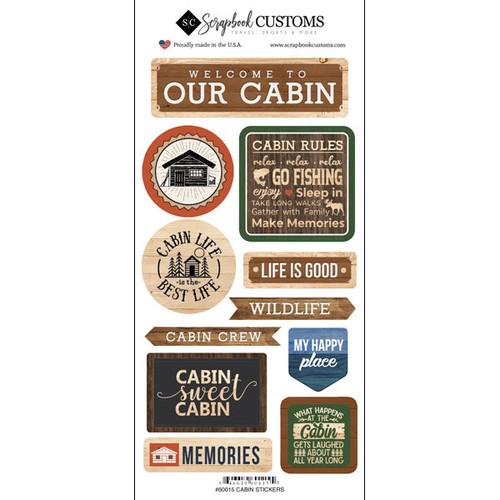 Scrapbook Customs Sticker: Life is Better Cabin