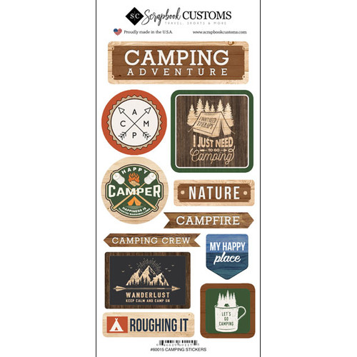 Scrapbook Customs Sticker: Life is Better Camping