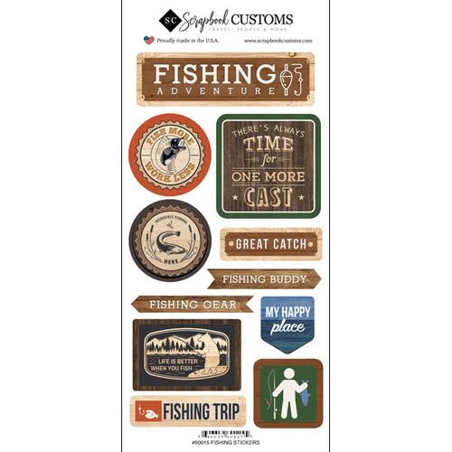 Scrapbook Customs Sticker: Life is Better Fishing