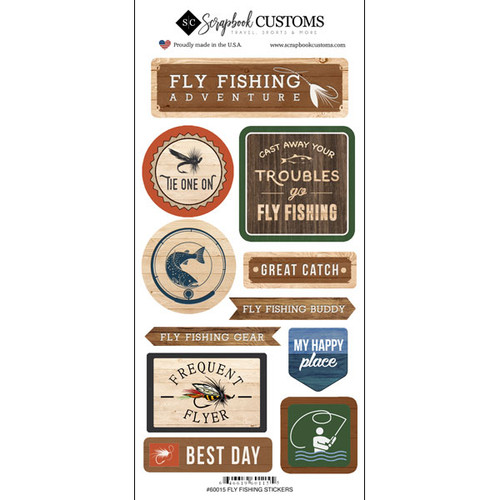 Scrapbook Customs Sticker: Life is Better Fly Fishing