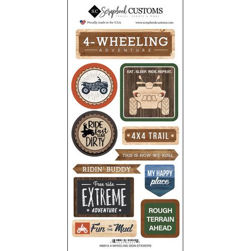 Scrapbook Customs Sticker: Life is Better Four Wheeling