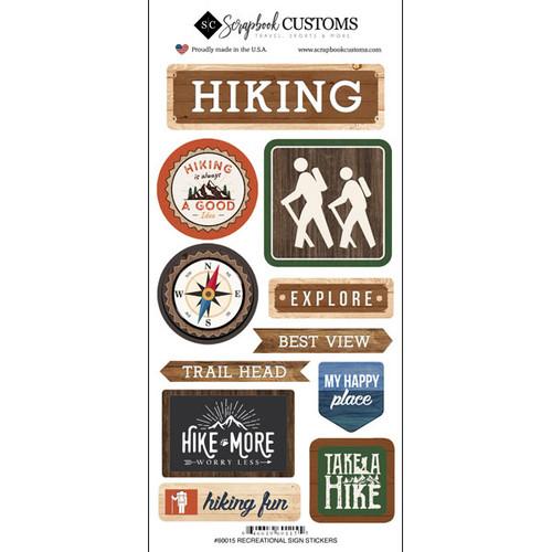 Scrapbook Customs Sticker: Life is Better Hiking