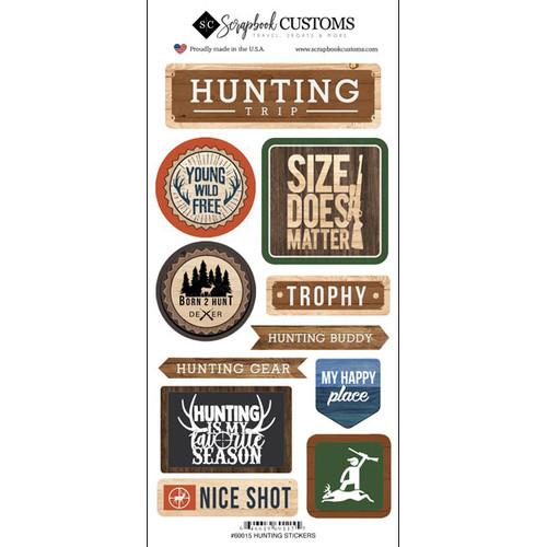 Scrapbook Customs Sticker: Life is Better Deer Hunting