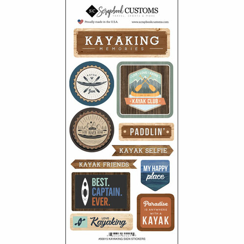 Scrapbook Customs Sticker: Life is Better Kayaking