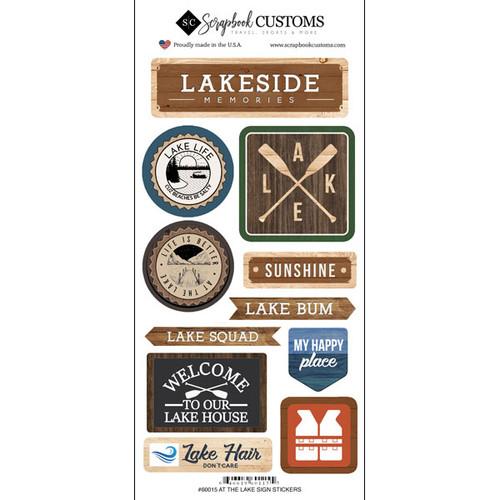 Scrapbook Customs Sticker: Life is Better Lake