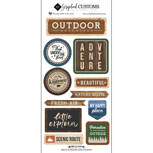Scrapbook Customs Sticker: Life is Better Outdoors