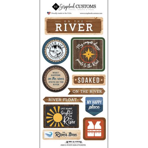 Scrapbook Customs Sticker: Life is Better River