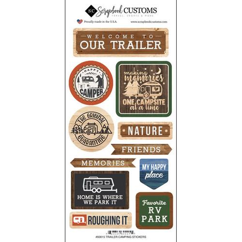 Scrapbook Customs Sticker: Life is Better Trailer Camping
