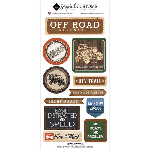 Scrapbook Customs Sticker: Life is Better Off Roading