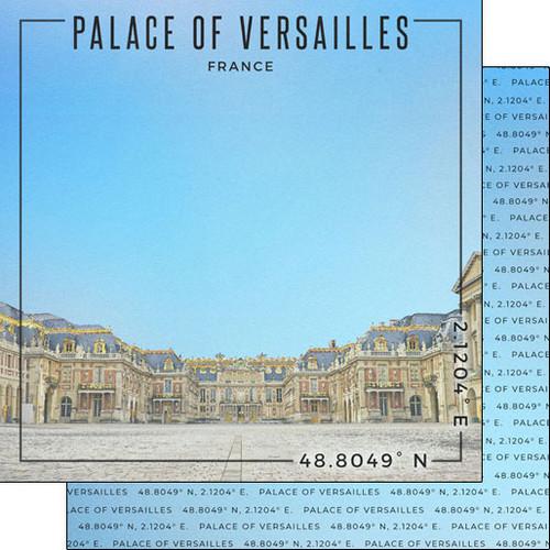 Scrapbook Customs Travel Coordinates 12x12 Paper: Palace of Versailles