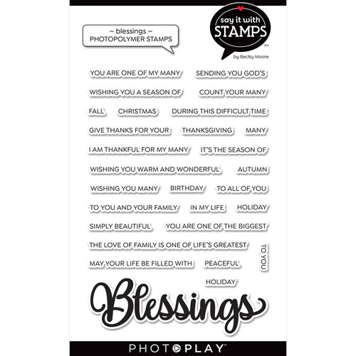 """PhotoPlay Say It With Stamps: Blessing 4""""x6"""" Word Stamp"""
