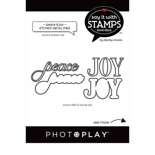 PhotoPlay Say It With Stamps: Peace/Joy Word Dies