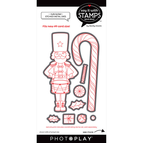 PhotoPlay Say It With Stamps: #9 Nutcracker/Candy Cane Dies