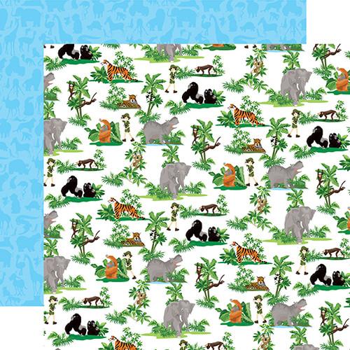 Carta Bella Zoo Adventure 12x12 Paper: Jungle Animals