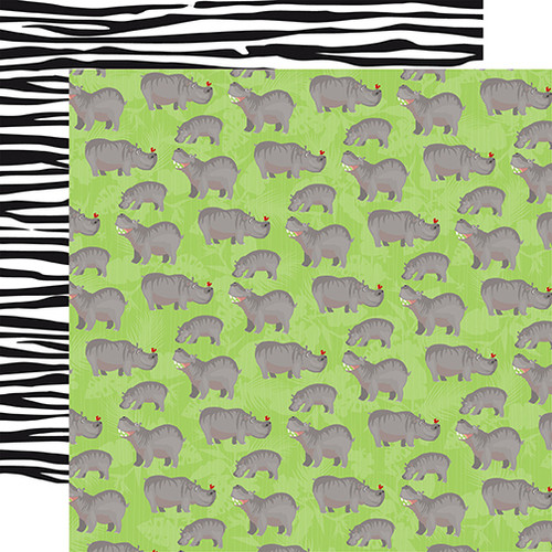 Carta Bella Zoo Adventure 12x12 Paper: Hippos