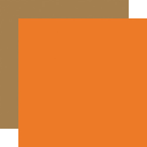 Carta Bella Zoo Adventure 12x12 Paper: Orange / Brown (Coordinating Solid)