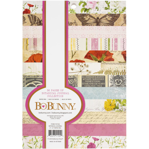 BoBunny Botanical Journal 6x8 Paper Pad