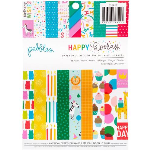 Pebbles Happy Hooray 6x8 Paper Pad