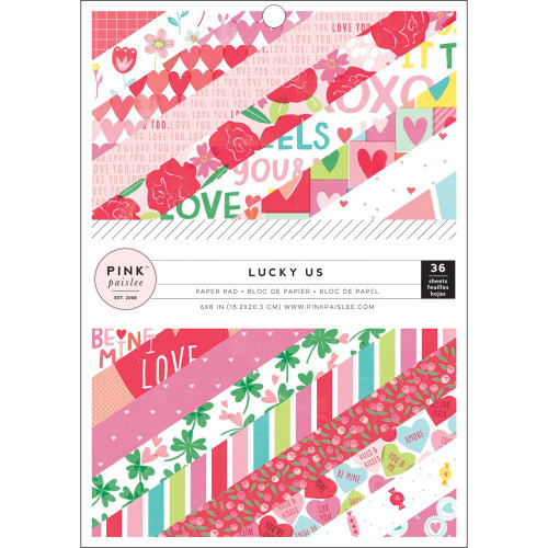 Pink Paislee Lucky Us 6x8 Paper Pad (Single-Sided)
