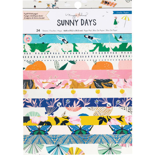 Crate Paper 6x8 Paper Pad: Maggie Holmes Sunny Days