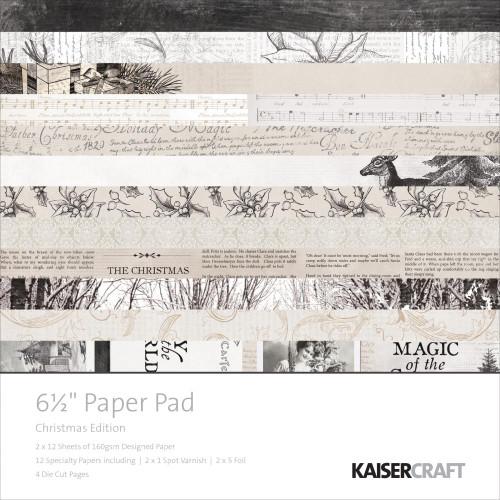 KaiserCraft Christmas Edition 6.5x6.5 Paper Pad (w/diecuts)