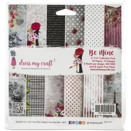 Dress My Craft 6x6 Paper Pad: Be Mine