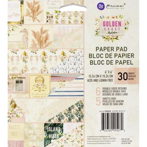 Prima Marketing 6x6 Paper Pad: Golden Coast