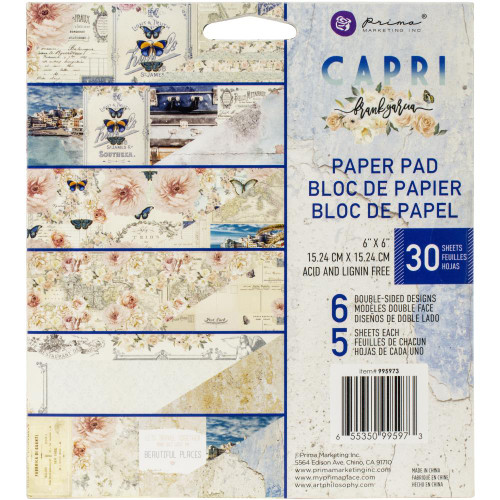 Prima Marketing 6x6 Paper Pad: Capri
