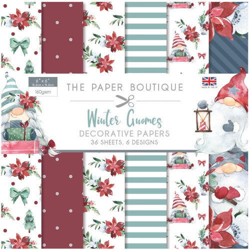 The Paper Boutique 6x6 Paper Pad: Winter Gnomes