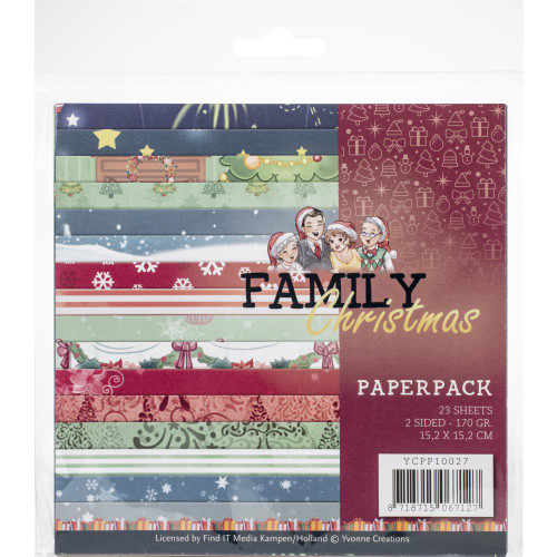 Find-It Media 6x6 Paper Pad: Family Christmas