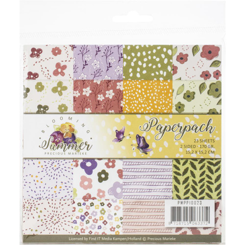 Find-It Media 6x6 Paper Pad: Blooming Summer