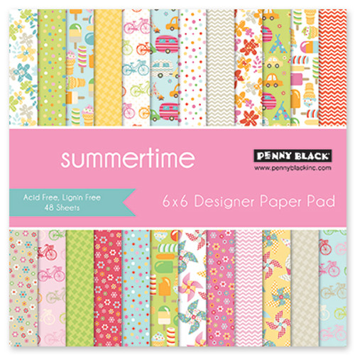 Penny Black 6x6 Paper Pad: Summertime