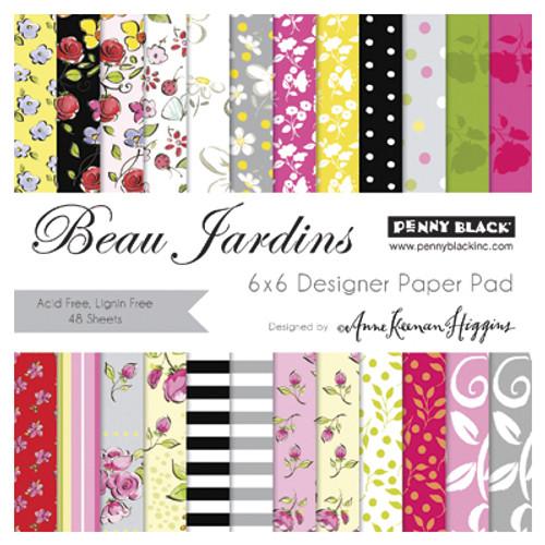 Penny Black 6x6 Paper Pad: Beau Jardins