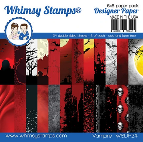 Whimsy Stamps 6x6 Paper Pad: Vampire