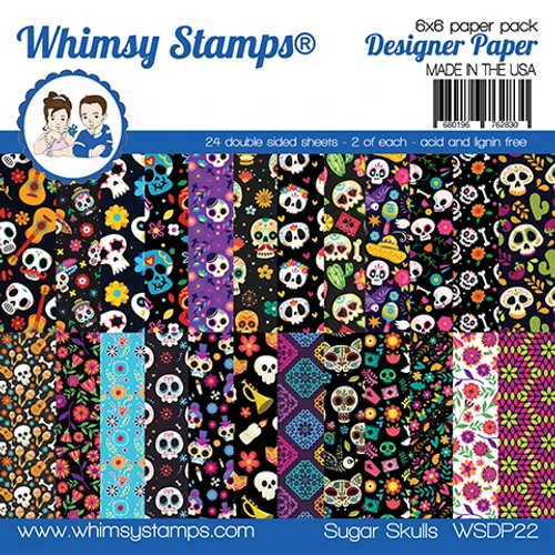 Whimsy Stamps 6x6 Paper Pad: Sugar Skulls