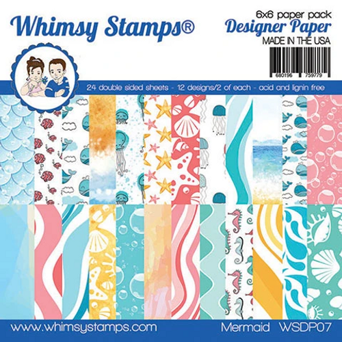 Whimsy Stamps 6x6 Paper Pad: Mermaid
