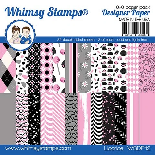 Whimsy Stamps 6x6 Paper Pad: Licorice