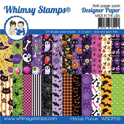 Whimsy Stamps 6x6 Paper Pad: Hocus Pocus