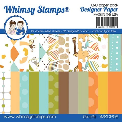 Whimsy Stamps 6x6 Paper Pad: Giraffe