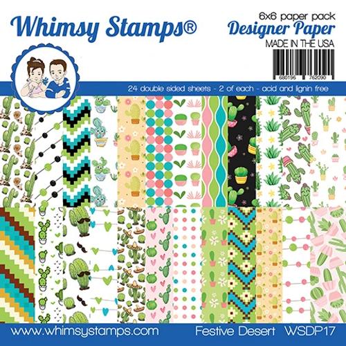 Whimsy Stamps 6x6 Paper Pad: Festive Desert