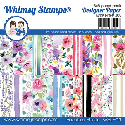 Whimsy Stamps 6x6 Paper Pad: Fabulous Florals