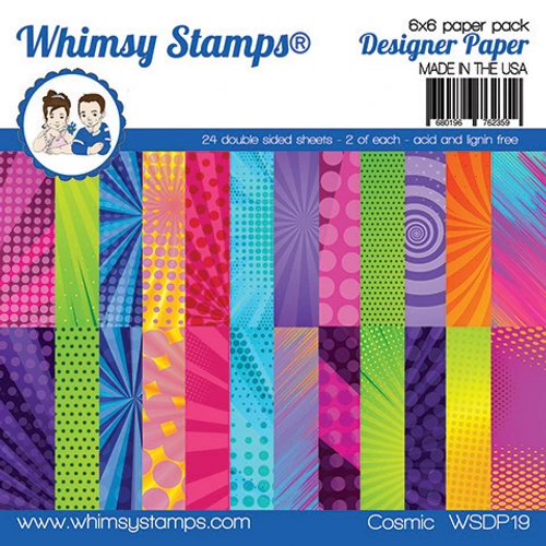 Whimsy Stamps 6x6 Paper Pad: Cosmic