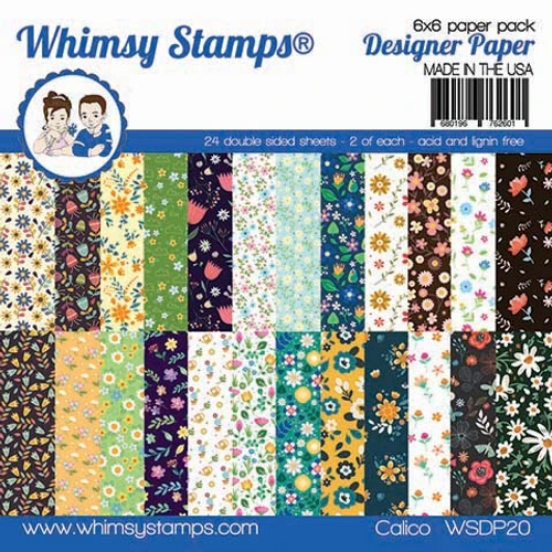 Whimsy Stamps 6x6 Paper Pad: Calico