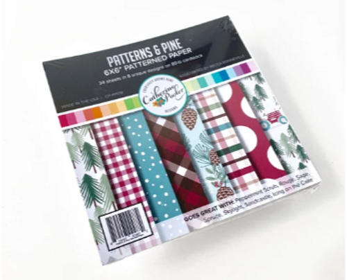 Catherine Pooler Designs 6x6 Paper Pad: Patterns & Pine