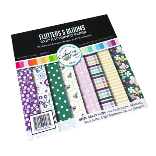 Catherine Pooler Designs 6x6 Paper Pad: Flutters & Blooms